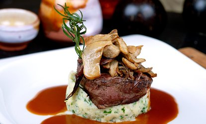 image for Sirloin Steak Meal with Wine for Two or Four at Cook's Bar & Kitchen (51% Off)