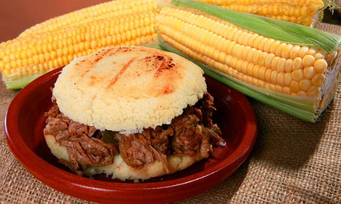 Bullpen Arepas - Lawrenceville: Arepas and Drinks for Two or Four at Bullpen Arepas (42% Off)