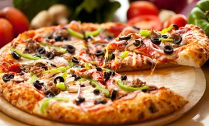 Pizza Crafters: Pizza and Drinks at Pizza Crafters (40% Off). Two Options Available.