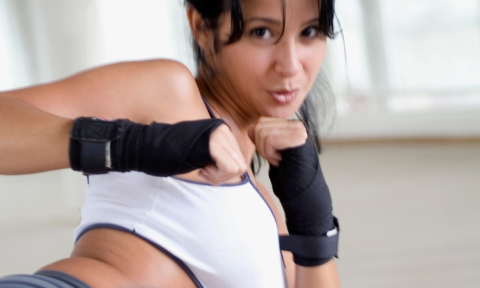 Eye of The Storm - Sherwood Park: One month of Unlimited Kickboxing Classes for an Adult, Teen, or Child at Eye of The Storm (56% Off)