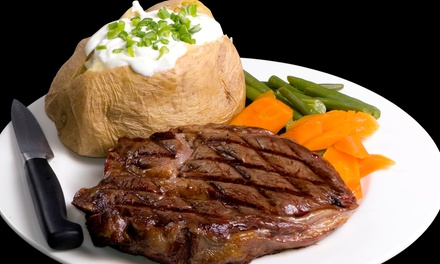 $59 for a Dinner for Two with Entrees, Wine, and Dessert at The Royal Cut Restaurant (Up to $96.98 Value)