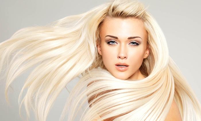 Violetta's Hair Salon and Spa - Violetta's Hair Salon and Spa: Shampoo, Cut, Blowdry, Scalp Treatment, Single Process Color or Highlights