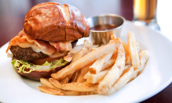 One Block East - Jackson: Burgers or Takeout at One Block East (Up to 40% Off)