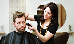 Ink Salon: Men's Haircut with Optional Scalp Treatment or Color at Ink Salon (Up to 53% Off)