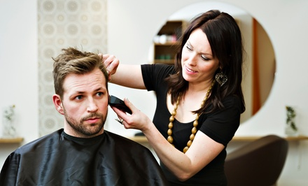 $22 for a Men's Haircut with Steam Towel Treatment and Shoulder Massage at Salon Teased ($45 Value)