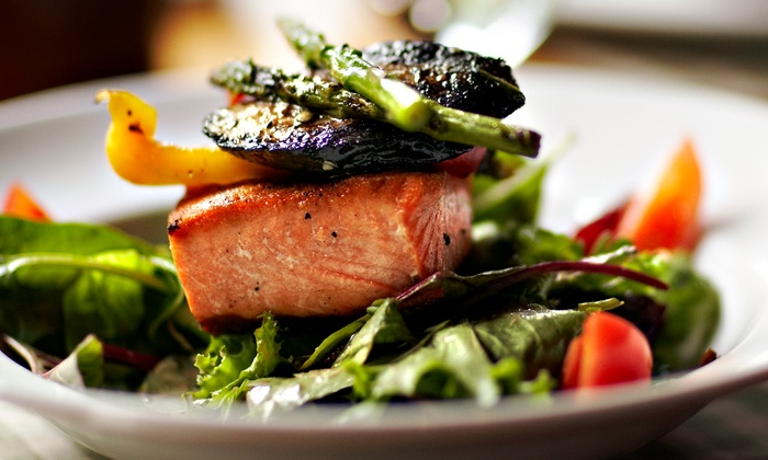 Aqua - Plymouth: $63 for a Prix-Fixe World-Fusion Dinner for Two at Aqua (Up to $94 Value)