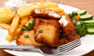 Dheen's: Fish and Chips with a Drink for One or Two at Dheen's in Covent Garden (Up to 56% Off)