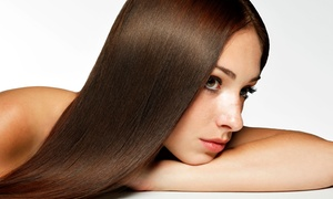 Sam Lopez Salon: Haircut with Blow-Dry or Partial Highlights or Brazilian Blowout at Sam Lopez Salon (Up to 52% Off)
