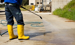 On the Spot Pressure Washing Services: Pressure Washing from On the Spot Pressure Washing Services (Up to 55% Off). Six Options Available.