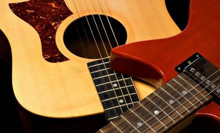 Four Private Lessons or Eight Group Classes at The Music House (Up to 53% Off)