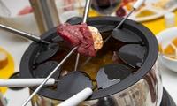 Menu en 4 services avec fondue ou pierrade au choix pour 2 ou 4personnes dès 44,90€ au restaurant LEntrague