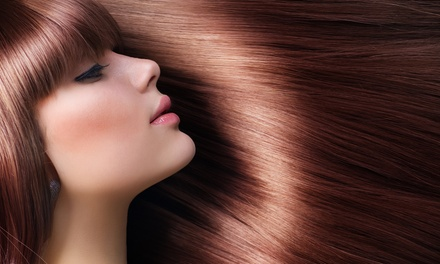 Haircut with Color, Highlights, Perm, or Blowout at Sky Salon and Spa (Up to 53% Off)