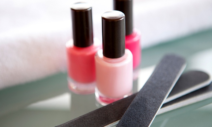 Salon Di Panache - Newton: One or Two Express or Regular Mani-Pedis and Hand Paraffin Treatments at Salon Di Panache (Up to 62% Off)