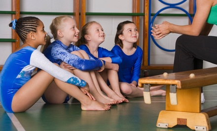 One Month of Parent/Child and Pre-School Classes with Optional Play Sessions at Flips Gymnastics (Up to 58% Off)