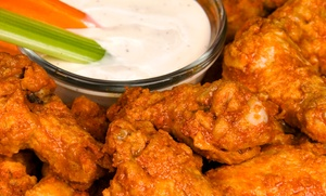 Kelli's Grille & Wing House: Wings, Appetizers, and Beers or Glasses of Wine for 2, 4, or 6 at Kelli's Grille & Wing House (Up to 47% Off)