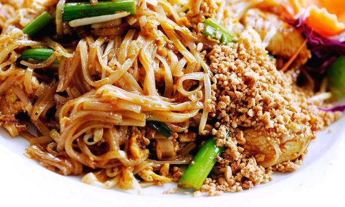 Thai basil Novi - Novi: Thai Food and Sushi for Two or Four at Thai basil Novi (35% Off)