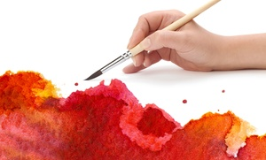 Plaster Art Gallery Art Lounge: Plaster or Wine Glass Painting at Plaster Art Gallery Art Lounge (Up to 44% Off). Four Options Available.