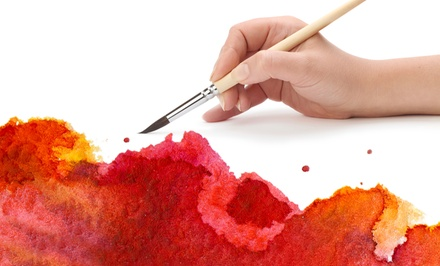 Plaster or Wine Glass Painting at Plaster Art Gallery Art Lounge (Up to 48% Off). Four Options Available.