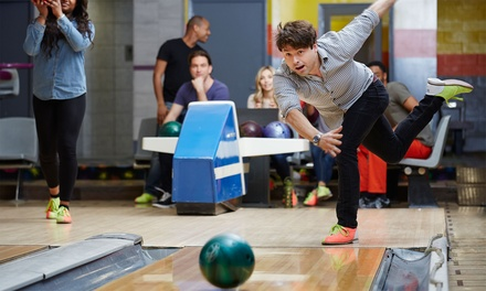 One Hour of Bowling with Shoe Hire and Optional Food For Up to Six at Disco Bowl, Five Locations