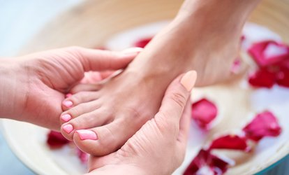Manicure and Pedicure at Xpressions Salon (Up to 49% Off). Four Options Available