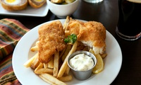 Fish and Chip High Tea with Bread and Butter, Cake and Tea or Coffee for Two or Four at Old Chain Pier (Up to 42% Off)