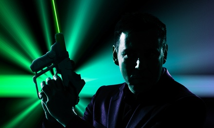 One or Four Groupons, Each One Good for Four Games of Laser Tag at Laser Chase (Up to 56% Off)