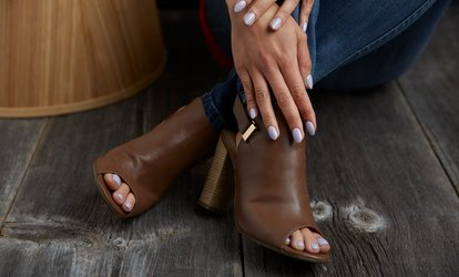 Gelaze Manicure, Pedicure or Both at Talk of the Town Beauty Salon (Up to 46% Off)