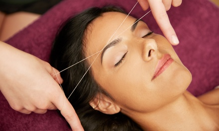 Eyebrow Threading or Face Threading at Sun & Moon Beauty Secrets Spa (Up to 38% Off)