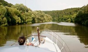 Boat City Hafendorf Rheinsberg GmbH: 2 Std. oder 1 Tag Bootsmiete für führerscheinfreies Boot Aqualine bei Boat City Rheinsberg (bis zu 34% sparen*)