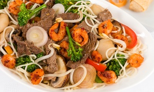 Goldene Kugel: Mongolisches Grillbuffet inkl. Sushi, Dim Sum und opt. Hot Pot für Zwei im Restaurant Goldene Kugel (bis zu 23% sparen*)