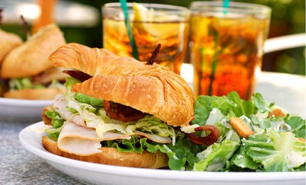 Coffee and Café Food at Ground Floor Cafe (Up to 44% Off). Three Options Available.