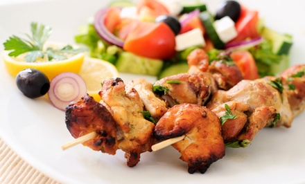 Middle Eastern Dinner for Two at Noora Cafe (Up to 46% Off). Two Options Available.