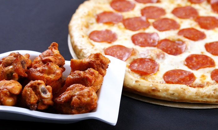 Image result for pizza and wings