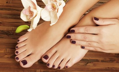 Gel Manicure, Pedicure or Both at Reading Beauty Salon (Up to 57% Off)