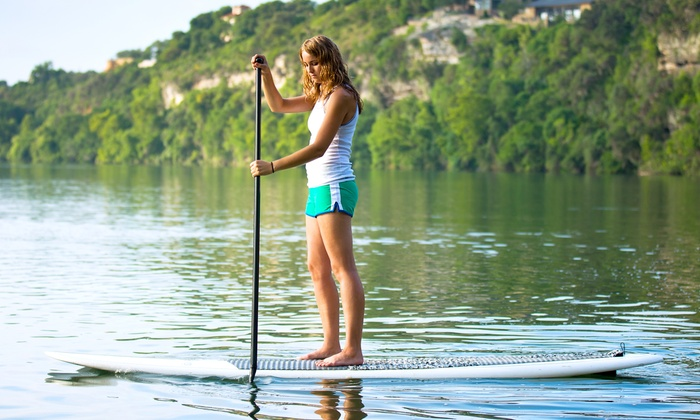 Galveston Paddleboard Center - Offatts Bayou: Paddleboard Lesson or Rental from Galveston Paddleboard Center (Up to 36% Off). Six Options Available.