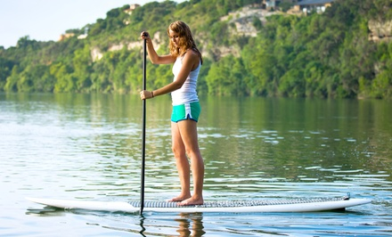 Standup-Paddleboard Rental with Optional Lesson at The Black Oar (Up to 51% Off). Three Options.