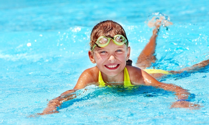 British Swim School - Freedom Commons: Six or Eight Kids' Swim Lessons with Registration Fee and Swim Cap at British Swim School (Up to 46% Off)