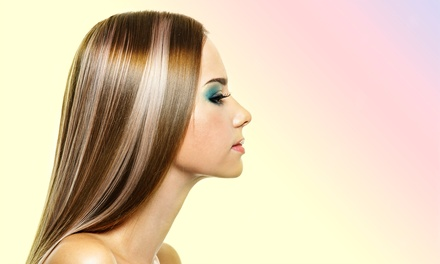 Haircut Package at New Art Salon (67% Off). Three Options Available.