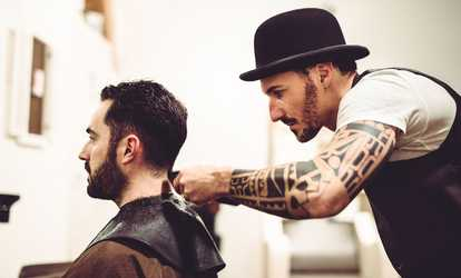 image placeholder image for One or Three Men's Haircuts and Styles or  Straight Razor Shave at Seawolf Barbershop