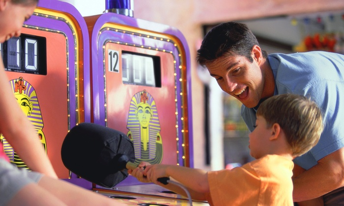 playtime party center - Wentzville: $33 for Package for Four with Pizza and Game Tokens at Playtime Party Center ($64.73 Value)