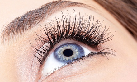 Eyelash Extensions with Optional Eyebrow Tint and Wax or Glam Eye Package at A Jolly Occasion (Up to 66% Off)
