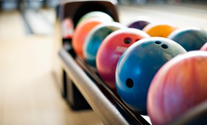 The Palace Bowling and Entertainment Center: Bowling for 2, 4, or 6 or Rock-n-Bowl for 3 at The Palace Bowling and Entertainment Center (Up to 49% Off)