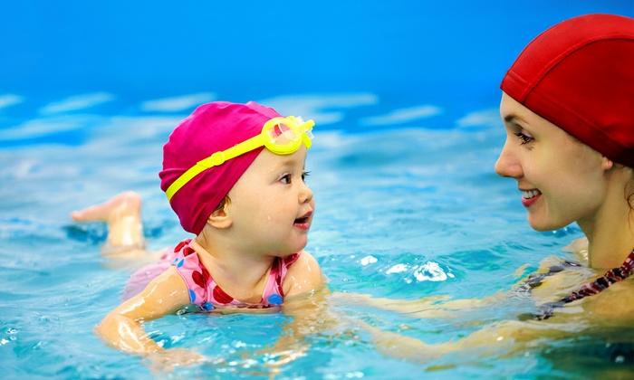 Kiss Swim - Multiple Locations: Six or Nine K.I.S.S. Swim Program Private Lessons, Taught by K.I.S.S. Swim Infant Aquatics instructor (44% Off)