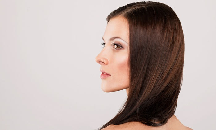 PhD-Polished hair Designs - PhD-Polished hair Designs: Cut with Conditioning, Partial or Full Highlights, Color, or Blowout at PhD-Polished Hair Designs (Up to 55% Off)