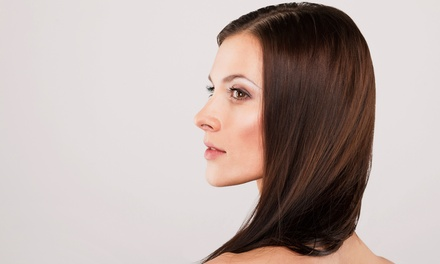 Cut with Conditioning, Partial or Full Highlights, Color, or Blowout at PhD-Polished Hair Designs (Up to 55% Off)
