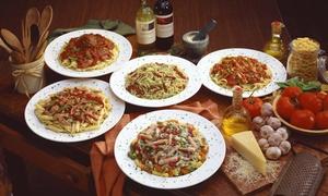 Spaghetteria al Fiore: Giropasta di 4 portate a scelta e calice di vino per 2 o 4 persone da Spaghetteria al Fiore (sconto fino a 57%)