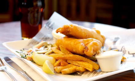 Fish and Chips with Prosecco, Wine or Beer for One or Two at Blue Eyed Maid (Up to 62% Off)