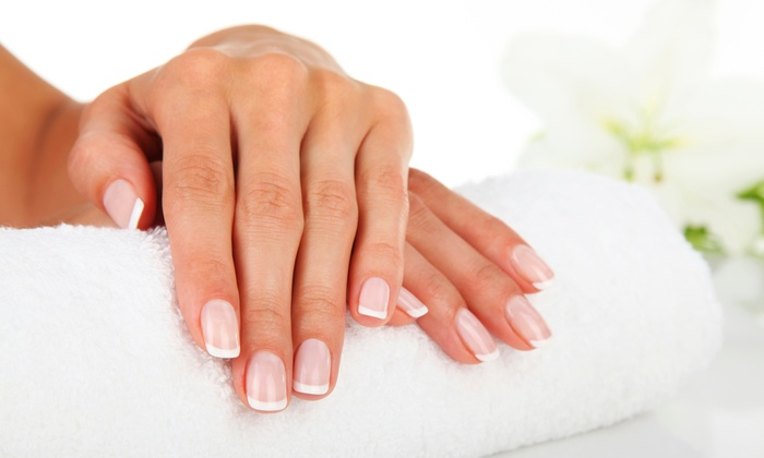 Nails by Cecilia - Countryside: Gel French Manicure with Optional Pedicure at Nails by Cecilia (Up to 52% Off)