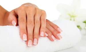 Amora Day Spa: Express Mani-Pedis with Optional Gel Polish at Amora Day Spa (Up to 45%Off). Five Options Available.