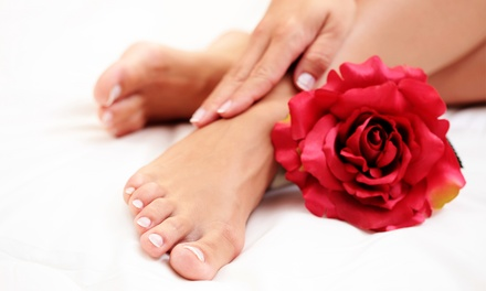 One or Two Mani-Pedis with Paraffin and Hot Towels at Charlie's East Coast Hair Designs (Up to 54% Off)